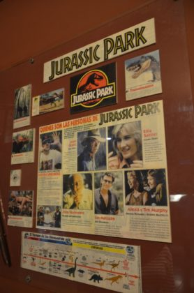 Memorabilia from the Jurassic Park movie