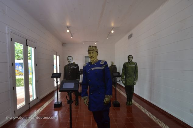 The life-sized replicas of the main actors involved in the Dominican restoration war