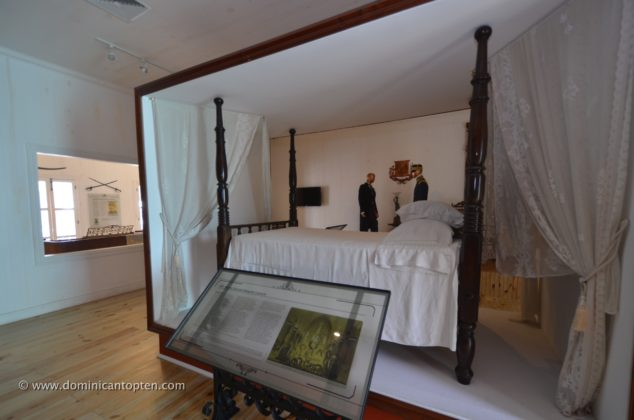 A bed replica like the one used by Luperon