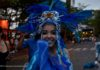 beautiful adorned dancer in the carnival