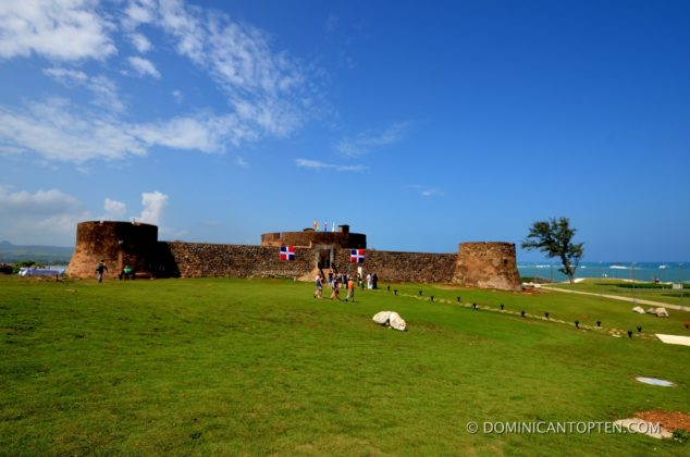 The San Felipe Fortress stands on a hill in La Puntilla, Puerto Plata