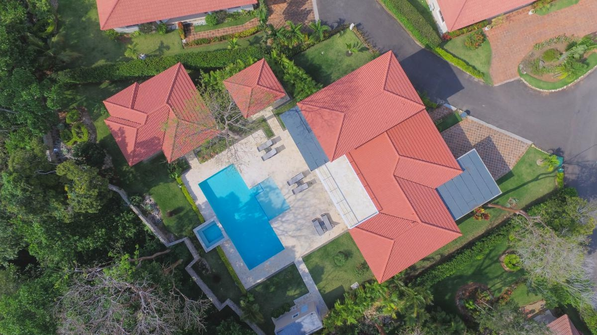 sosua villa 4 bedrooms seen from above