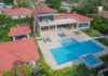 aerial view of the 4 bedroom villa in Sosua