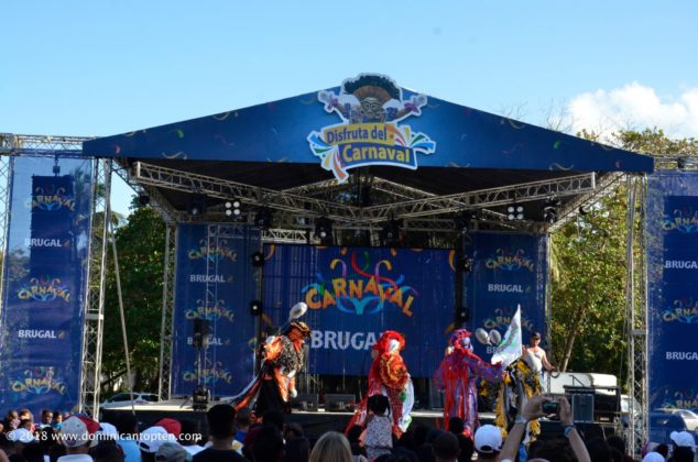 The beautifully designed 2018 carnival stage