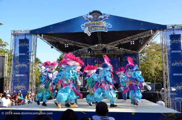 The stage was colorful with music and dancers