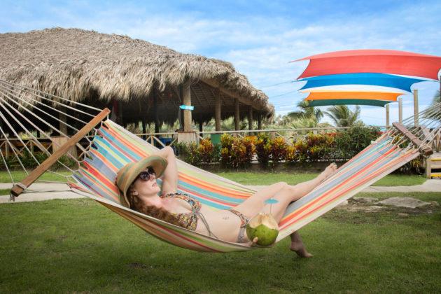 tourist on hammock