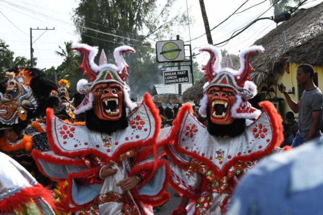 twin devil dressed in carnaval