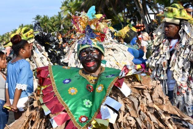 dominican in carnival costume