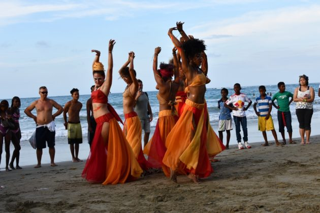 Dancing to the carnaval day in Cabarete
