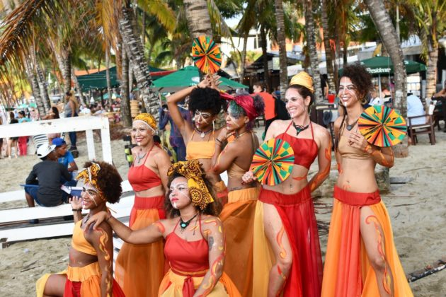 The Yemalla dance group in Cabarete