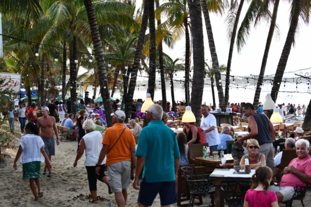 Cabarete beach was packed with people