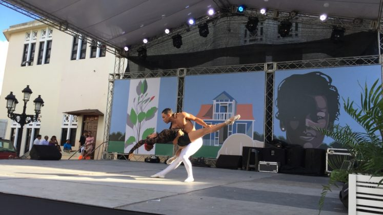 Ballet performers at the Puerto Plata patronales
