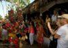 Tourists visiting the 2019 Cabarete carnival in Dominican Republic
