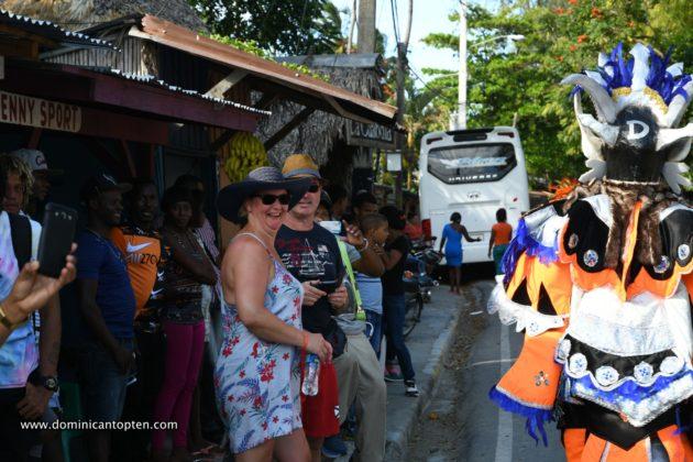 Tourists enjoying the parade