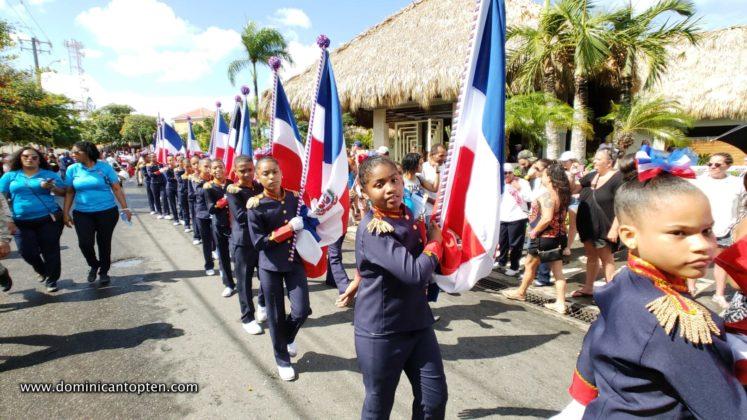 marching near the casa marina hotel