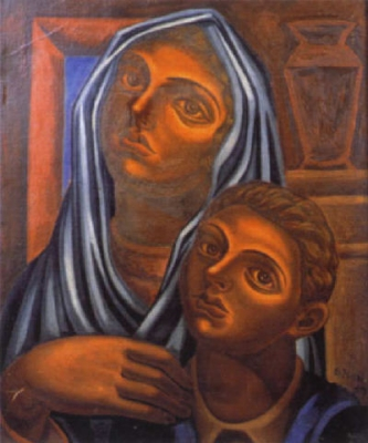 Mujer con nino