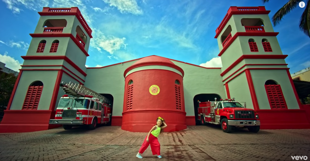 Puerto Plata fire department building music video
