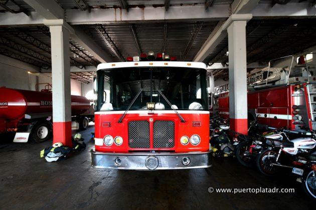 Firetruck parked inside