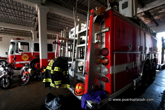 Firefighter gear and truck