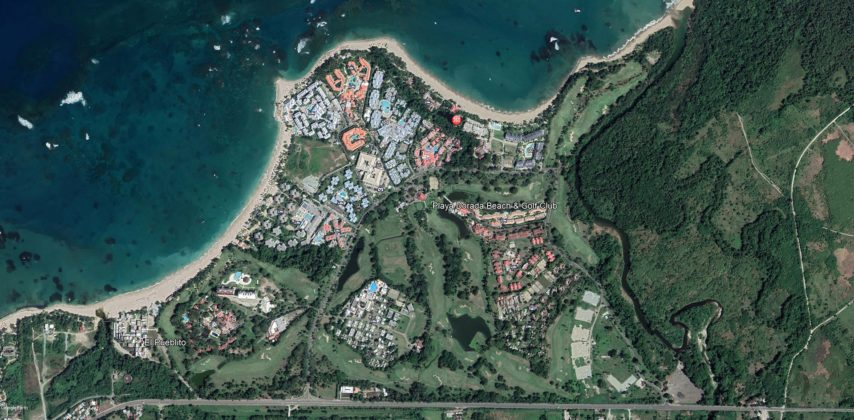 Satellite view of Playa Dorada Golf