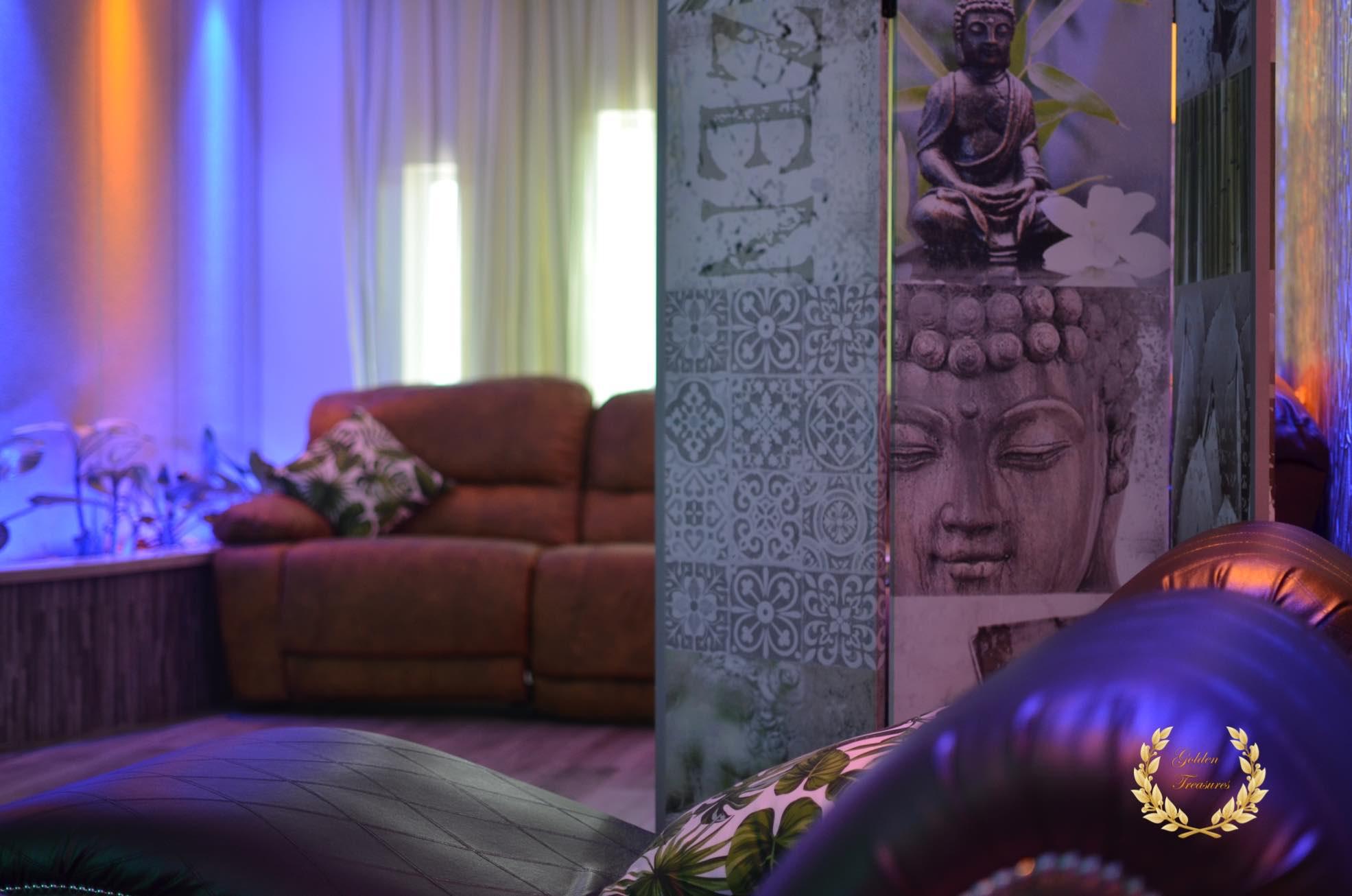 Lounge at the Sosua Bachelor party villa