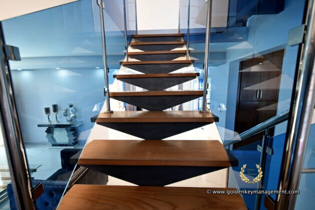 wooden stair case steps