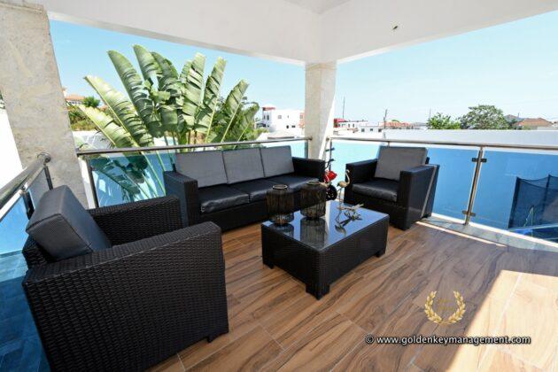 Gazebo lounge area