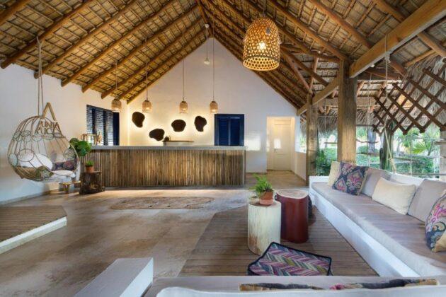 The hotel reception at Punta Rucia